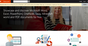 Now that it owns SlideShare, Microsoft is closing its own file-sharing service Docs.com