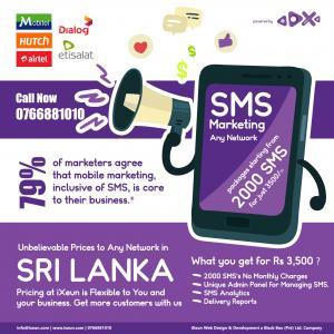Cheap & Low Cost Affordable Bulk SMS Solution Batticaloa Sri Lanka - iXeun